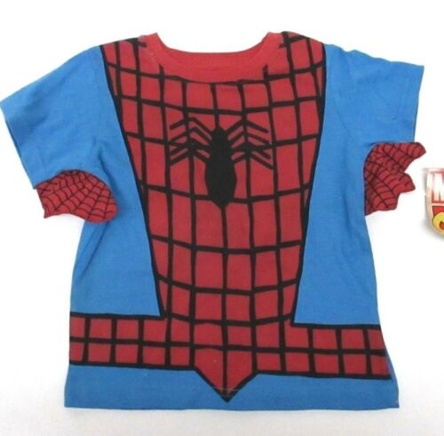Spider Man Marvel Short Sleeve Blue Winged T-Shirt Toddler Boys 2T 3T New