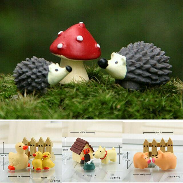 10x Miniature Fairy Garden Micro Landscape Mini Dollhouse Bonsai Decor Frog