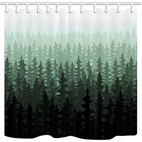 nymb nature forest landscape decor watercolor pine trees shower curtains for for sale online ebay nymb nature forest landscape decor watercolor pine trees shower curtains for