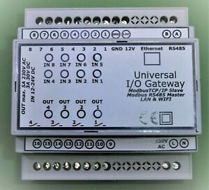 Ein Ausgänge Modbus MQTT Gateway IOBroker Openhub smart home RS485 WLAN LAN I/O