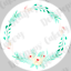 Personalised Boho Floral Wreath Wedding Favour Tissues Labels Stickers Gift Tags