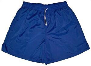 High-Five-Blue-Plain-Nylon-Soccer-Shorts-Men-039-s-Medium