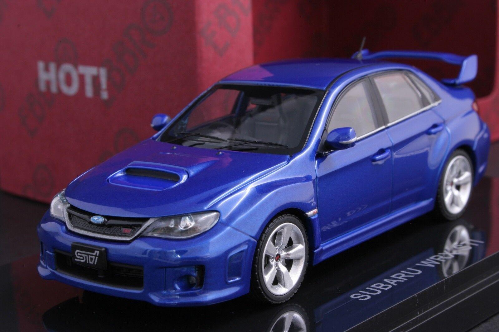 Ebbro 1 43 Subaru Impreza WRX STI Die Cast Modelo Sport Car (WRX blu Perla Mica)