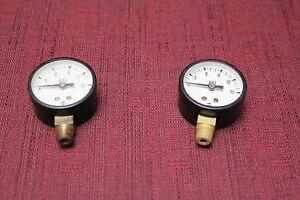 "USG P500 146000 1-1/2"" dial 0 -15 Psi Dry Bottom Mount Pressure Gauge Used"