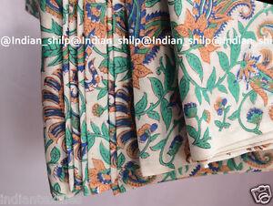 Indian Handmade Running Cotton Hand Block Print Ethnic Loose Fabric Decor 3 Yard