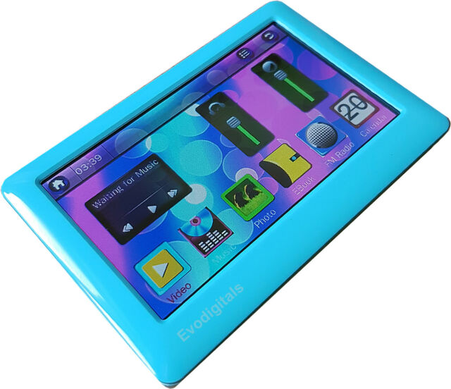 """EVO BLUE 80GB 4.3"""" TOUCH SCREEN MP5 MP4 MP3 PLAYER VIDEO TV OUT VOICE RECORDER"""