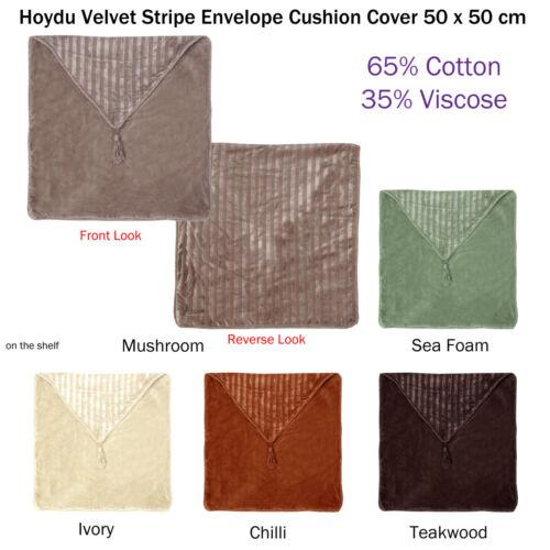 Hoydu Velvet Stripe Envelope Cushion Cover 50 x 50 cm