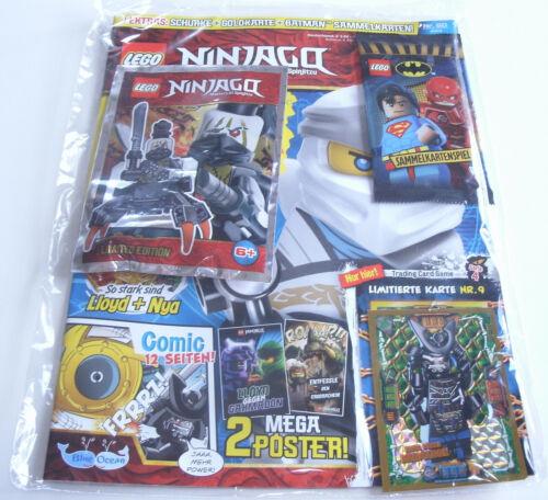 LEGO Ninjago-rivista N 50 con gamba senza cattivi e scheda EDIZIONE LIMITATA