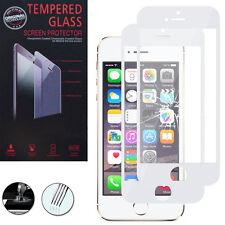 2 Films Verre Trempe Protecteur Protection BLANC pour Apple iPhone 5/ 5S/ 5se
