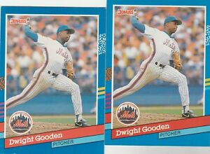 FREE-SHIPPING-MINT-1991-Donruss-266-Dwight-Gooden-New-York-Mets-2-CARDS