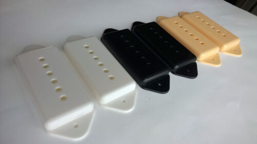 P90 Dogear pickup covers Black//White//Ivory cream 50//52mm pole spacing bobbins