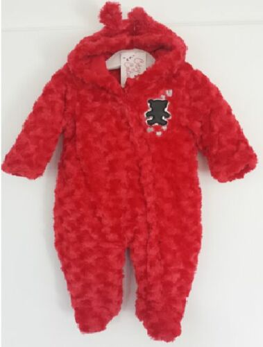 Snowsuit Cutey Couture Super Soft Fur Snowsuit All In One Red Latest Christmas
