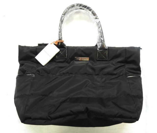 Perry Mackin Nylon Diaper Bag Anouk Black Model 1034blk