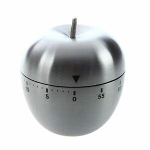 1X-Minuteur-minuterie-Cuisine-Compteur-Chronometre-Mecanique-Alarme-Inox-60-f6