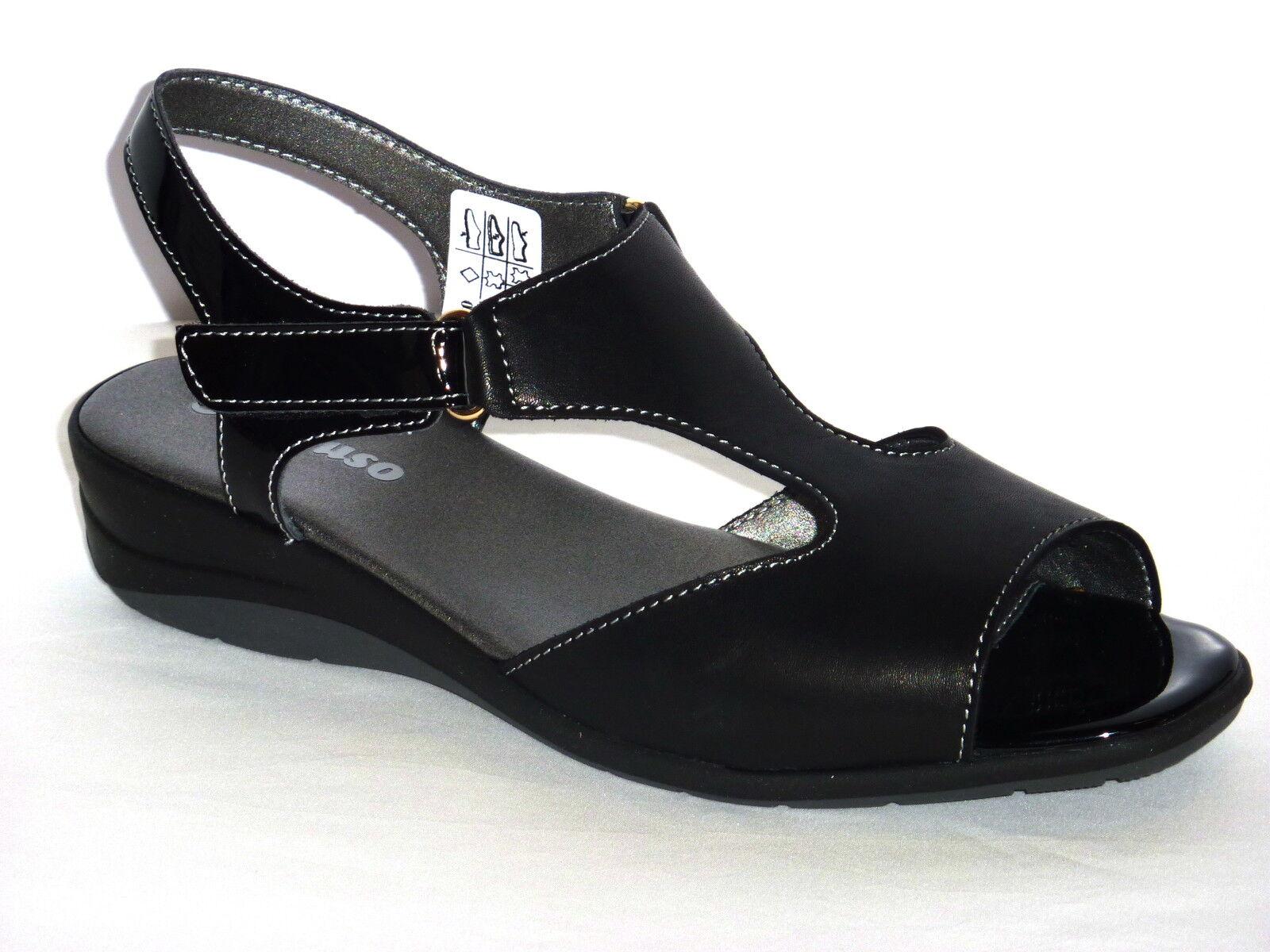08990 MELLUSO SANDALI women TACCO BASSO ZEPPA black COMFORT n. 40