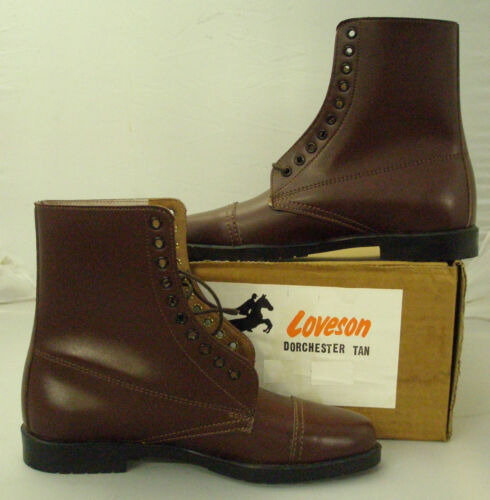 LOVESON Dorchester Tan LACED Paddock Boot-Leather salière
