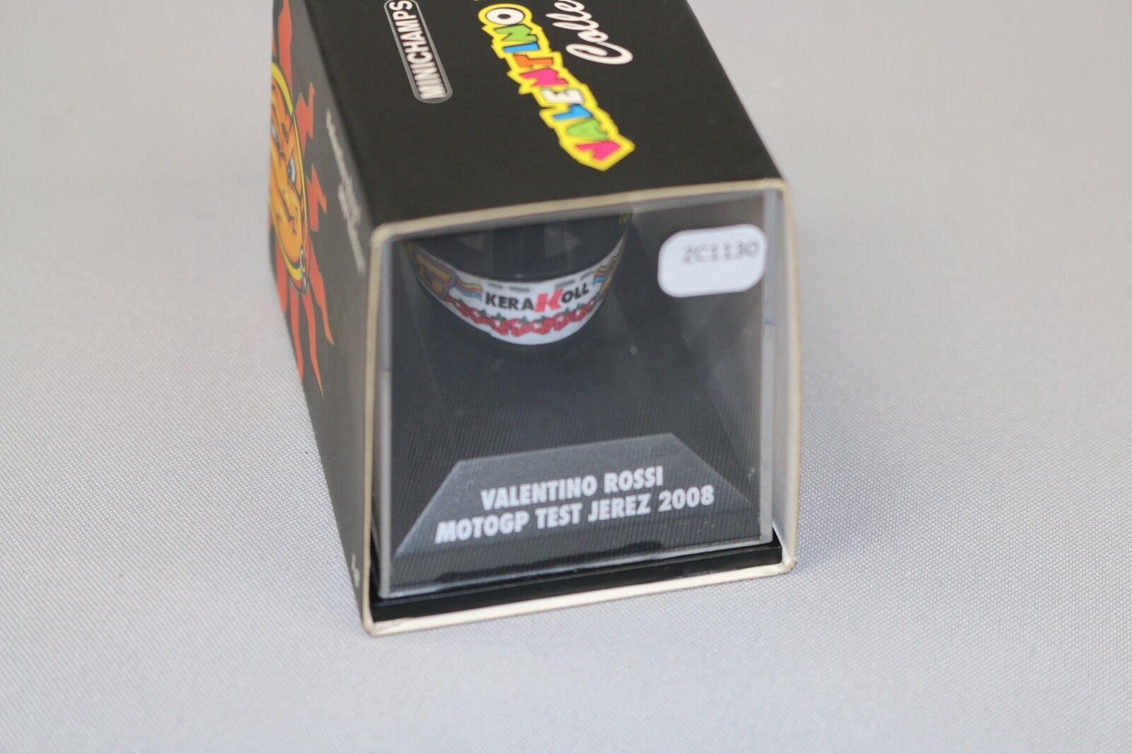 ZC1230 Minichamps 398080026 Casque miniature 1 8 Valentino Rossi 2008 Moto GP
