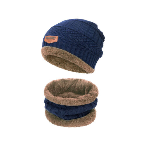 Wintermütze Kinder Mädchen Jungen Winterschal Fleece Mütze Beanie Set Geschenke