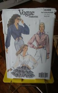 Oop-Vogue-8399-misses-tied-buttoned-front-cuff-open-midriff-shirt-sz-18-22-NEW
