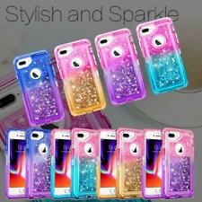 Cute Gradient Glitter Liquid Case Cover For iPhone 8 7 6 PLUS Fits Otterbox Clip
