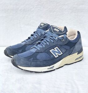 New Balance 991 Made In Usa Navy Blue Suede Men S Size 10 Ebay