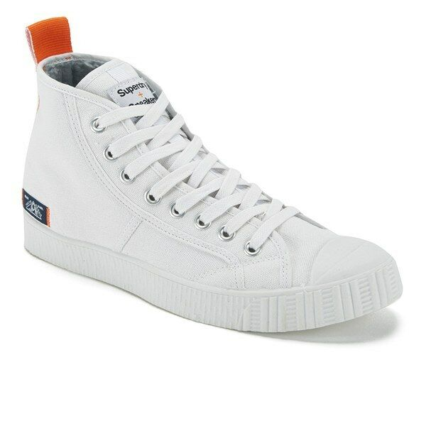Superdry Mens Super Sneaker Hi Top Trainers (White)BRAND NEW