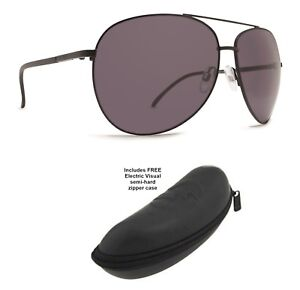 8586613c98 NEW Dot Dash Nookie Black Aviator Wrap Round Sunglasses + Electric ...