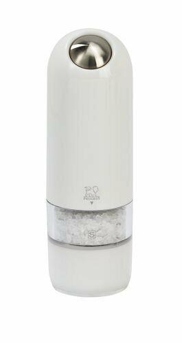 Peugeot Alaska Electric Salt Mill, 7 pouces, Blanc