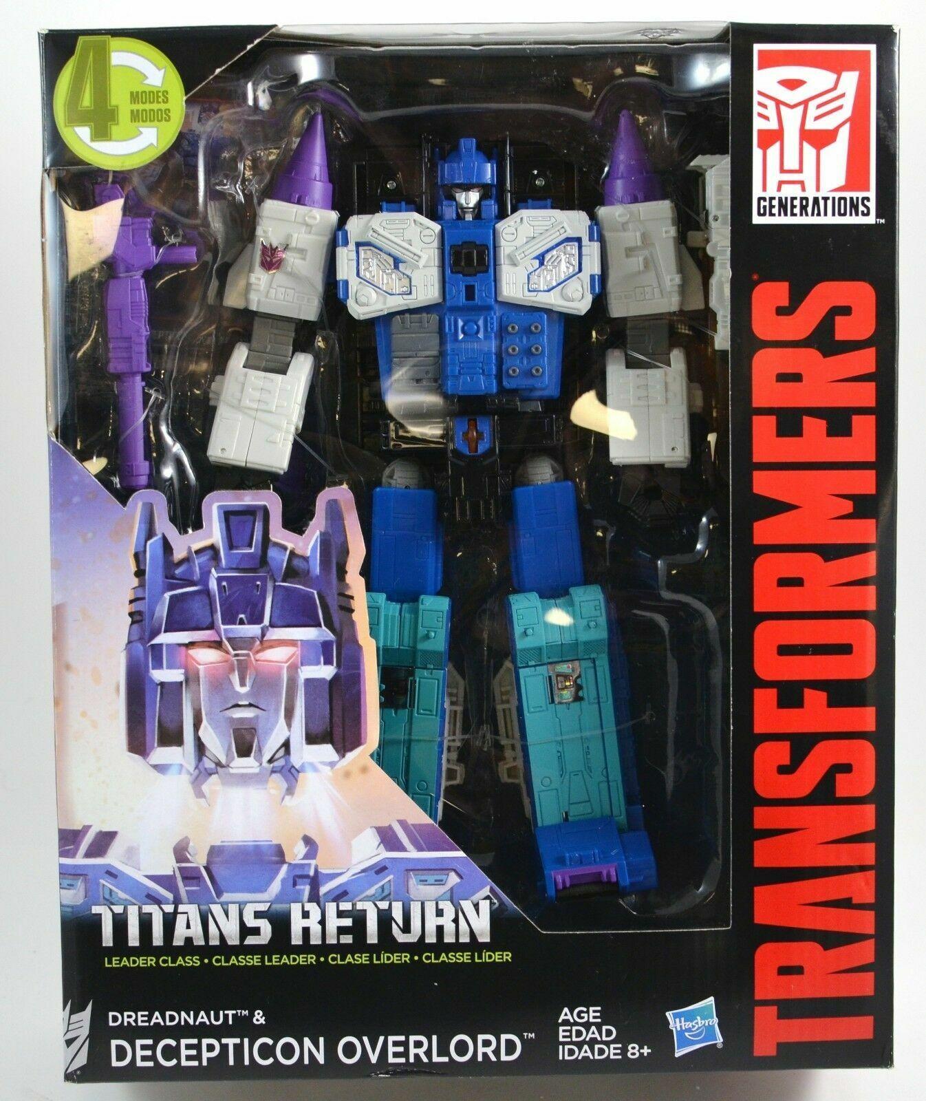 Transformers Generations Titans Return Dreadnaut & Decepticon Overlord Brand New
