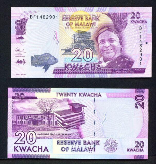 Malawi - 01/01/2016 20 Kwacha UNC