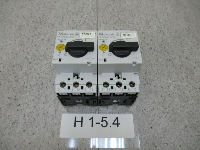 2x moeller PKZM0-2,5 Salvamotore