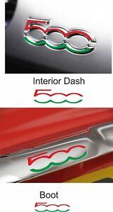 Fiat-500-595-Dash-amp-Boot-Overlay-inlay-Decals-stickers-badges-Vinyl-Abarth-x4