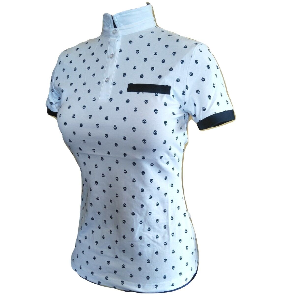 White Equestrian Shirt with Skull Print - Congreens from  polo to ratcatcher  factory direct