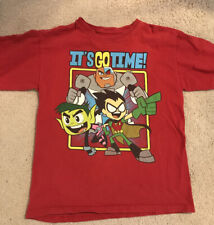 Teen Titans Go Boys Graphic Mineral Wash Tee Shirt
