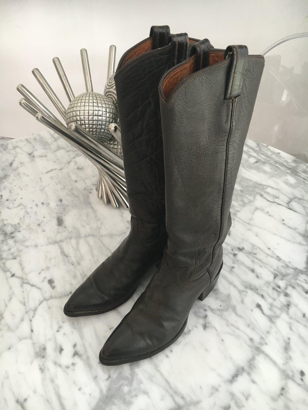 il prezzo più basso  1200 Donna  Tony Lama Lama Lama El Paso Custom Knee High Water Buffalo stivali. US Dimensione 7  negozio outlet
