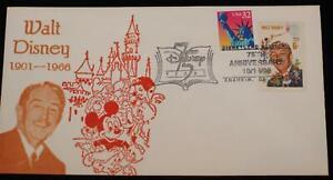 Walt-Disney-1968-USPS-6c-Stamp-Disneyland-Station-1998-Postmark-One-Day-Only