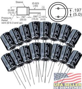 10V 2200uf 6 pcs Nichicon FG Capacitors