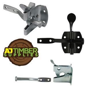 Heavy Duty automatique Porte Loquet Verrou Porte Auto Pad Lock-noir//zinc//GALV