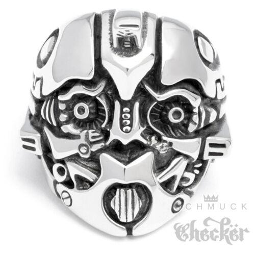 Anillo de acero inoxidable Optimus Prime Bumblebee Transformers Autobot plata masivamente Movie