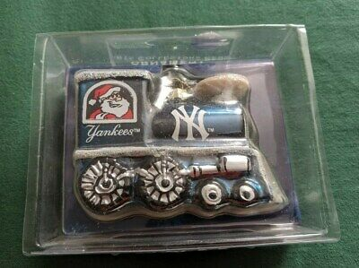 New York Yankees Blown Glass Train Holiday Christmas ...