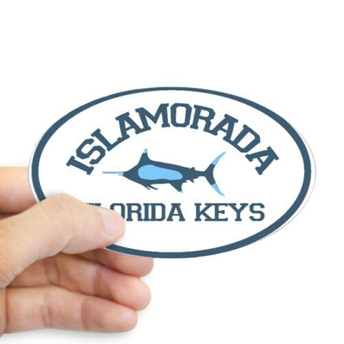 Sticker CafePress Islamorada Fishing Design Oval 785456183