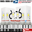 Combo 9005 9006 120W 36000LM LED High-Low Beam Headlight Kit Bulbs 6000K H11
