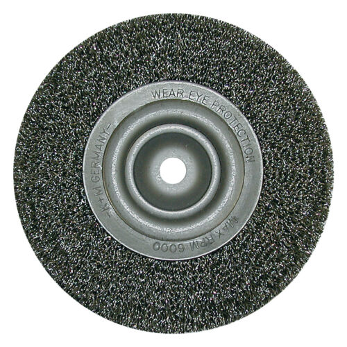 Drahtbürste für Schleifböcke Rundbürste D 178 x Loch 50 x 0,2 Stahl