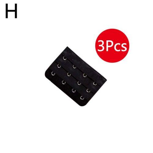 3pcs Women/'s Bra Extender Strap Extention Bra Accessories 2//3//4//5 Hooks 3 Rows