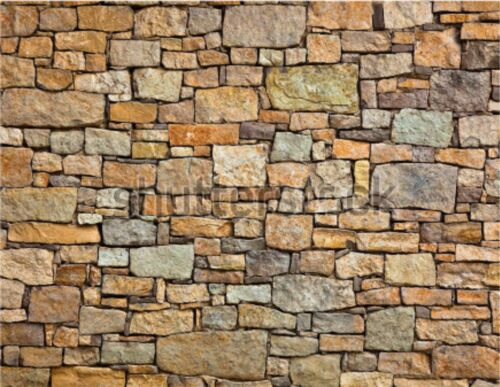 6 SHEETS EMBOSSED BUMPY BRICK stone wall 21x29cm O Scale CODE D67Vx