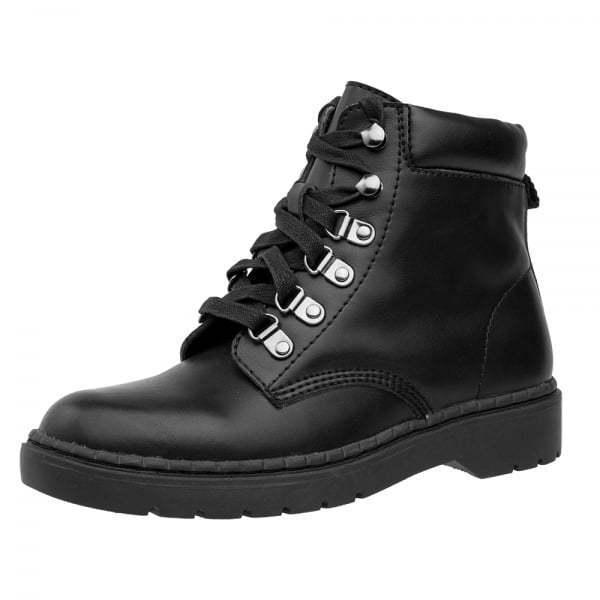 T.U.K. Chaussures femme en cuir Noir Noir Noir Randonneur Ealing Bottes e51fbe