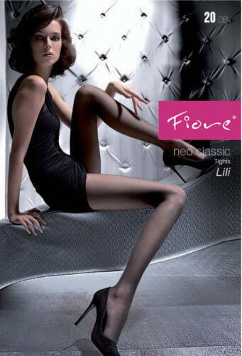 Fiore Lili Sheer Tights Reinforced Brief Reinforced Toe 20 Denier