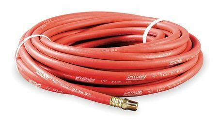 """SPEEDAIRE 5Z333 3//4/"""" x 50 ft Nitrile Coupled Multipurpose Air Hose 250 psi RD"""