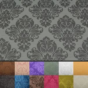 FLORAL-DAMASK-FAUX-SILK-JACQUARD-CURTAIN-UPHOLSTERY-FABRIC-MATERIAL-12-COLOURS