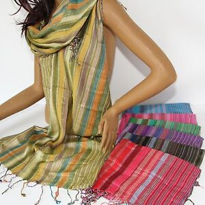 Bufanda-Panuelo-mujer-armonia-de-color-Bufanda-Larga-INDIA-CON-HILOS
